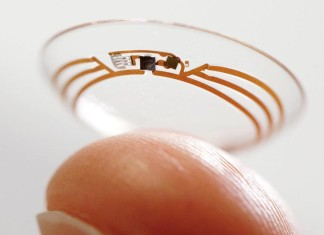 Contact smart lens Google, Close-up Engineering