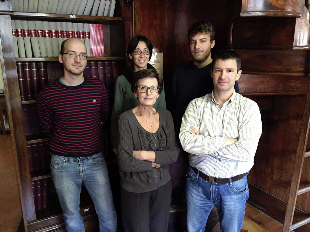Da sinistra a destra: Massimo Baroncini, Margherita Venturi, Serena Silvi, Alberto Credi, Giulio Ragazzon
