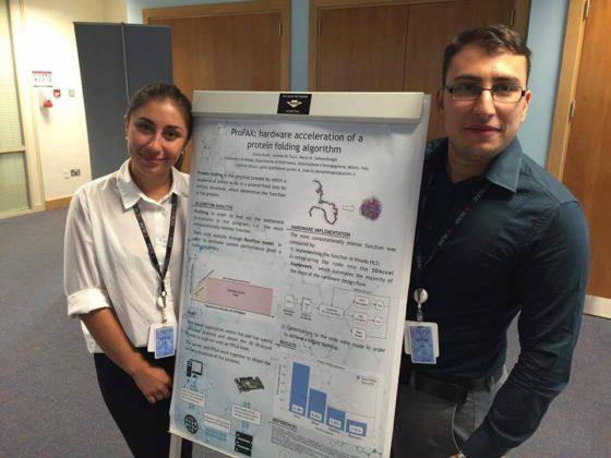 Giulia e Lorenzo with the presentation of their ProFax project