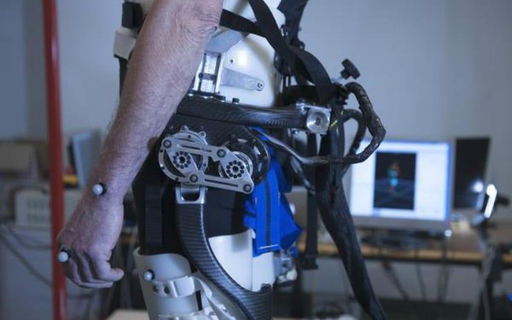 Un particolare del nuovo modello di esoscheletro