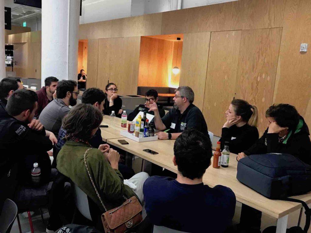 Il coordinatore del NECST Lab Marco Santambrogio insieme ai ragazzi della NGC
