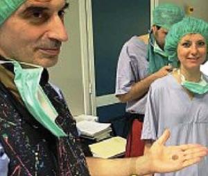 Il cardiologo Mauro Biffi e il pacemaker