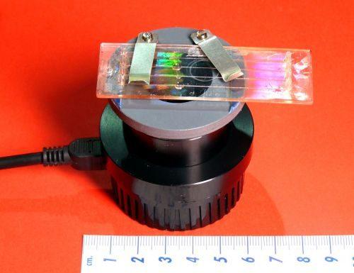 Microscopio olografico portatile
