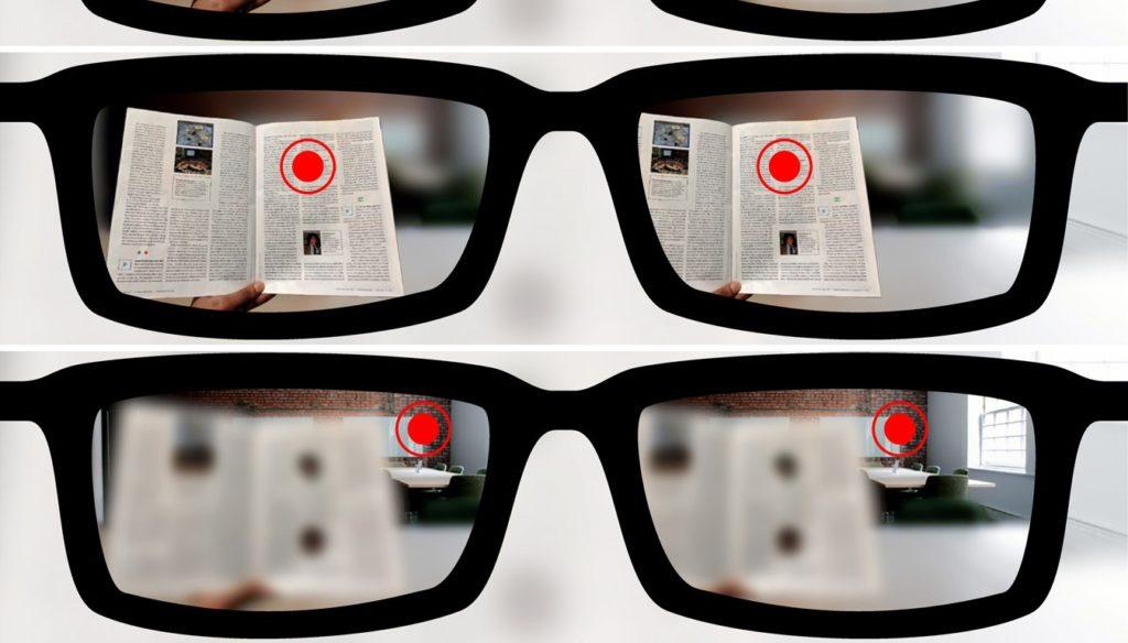 visione con lenti autofocali presbiopia