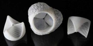 valvole cardiache in silicone stampate 3d