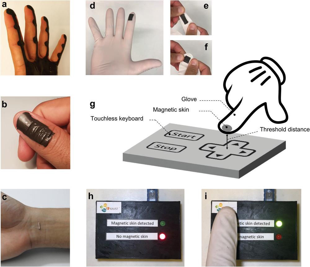 Funzioni pelle magnetica touchless dispositivi