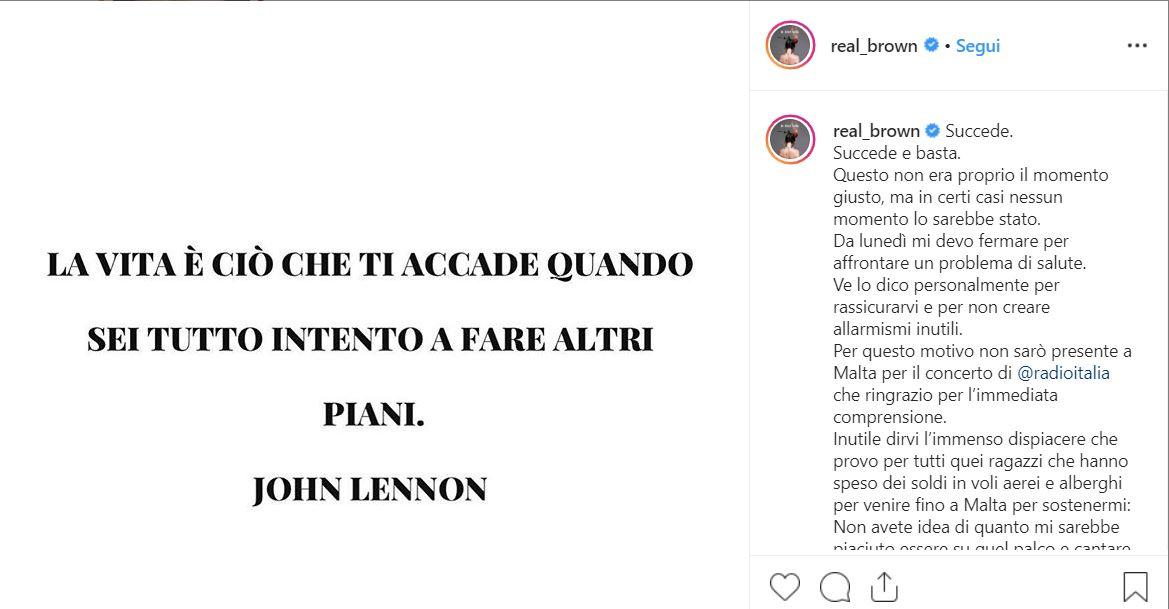 instagram emma marrone account tumore ovaio