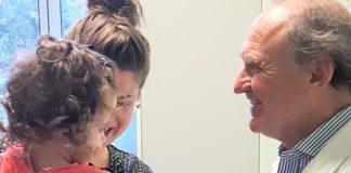 giuseppe pomè con bambina di 21 mesi operata cuore genova gaslini ricostruzione
