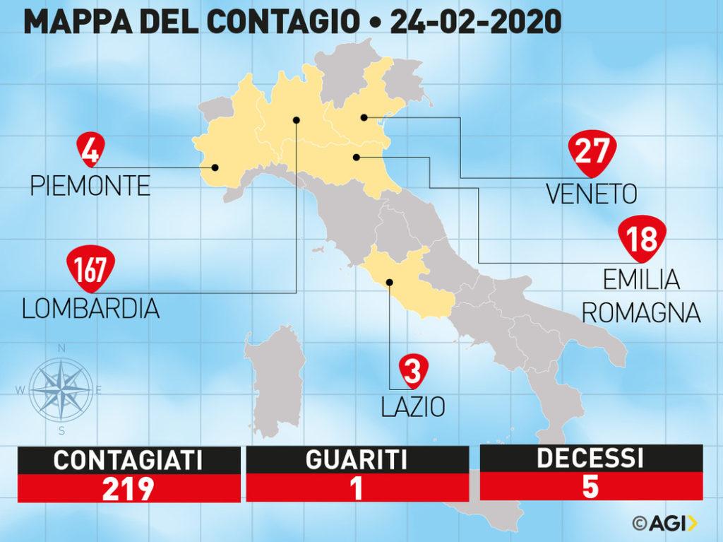 coronavirus italia paziente zero aggiornamento oggi contagio  credits: agi.it