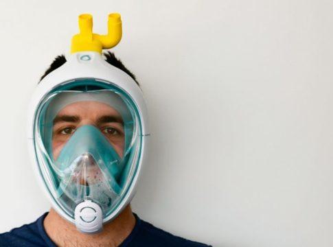 Easy Covid19: come la maschera da sub Decathlon diventa un respiratore