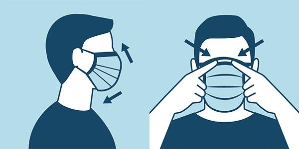 Coronavirus, come si indossa correttamente la mascherina?