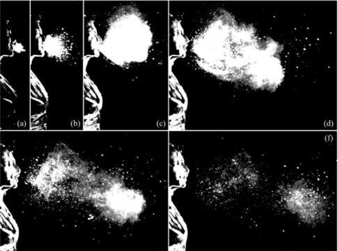 Fotogrammi evidenziano dinamica starnuto