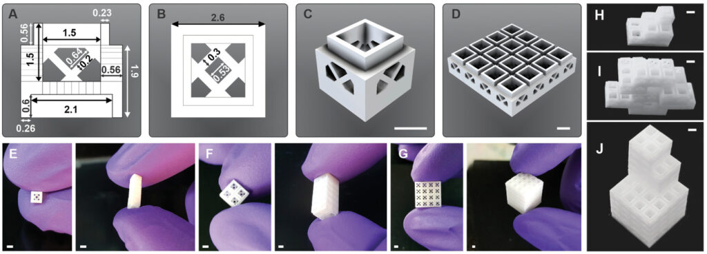 Scaffolds per ingegneria tissutale ispirati ai mattoncini Lego. Credits: Advanced Materials