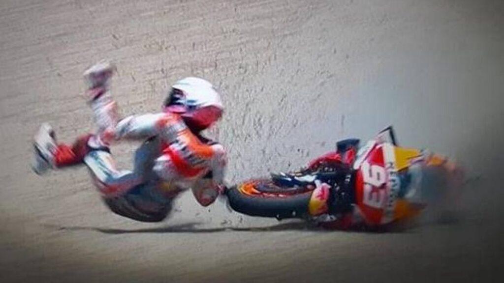 Marc Marquez caduta braccio rotto