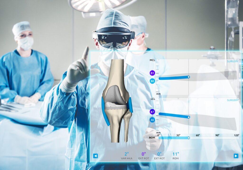 La realtà aumentata (AR) utilizzata nella chirurgia sostitutiva del ginocchio. Credits: NextAR/Medacta