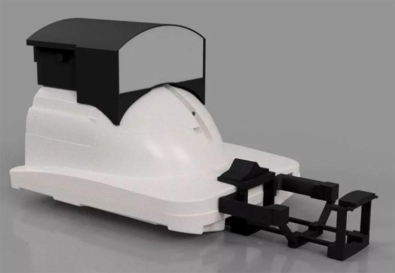 Un sistema di realtà virtuale per distrarsi durante la risonanza magnetica. Credits: King's College London